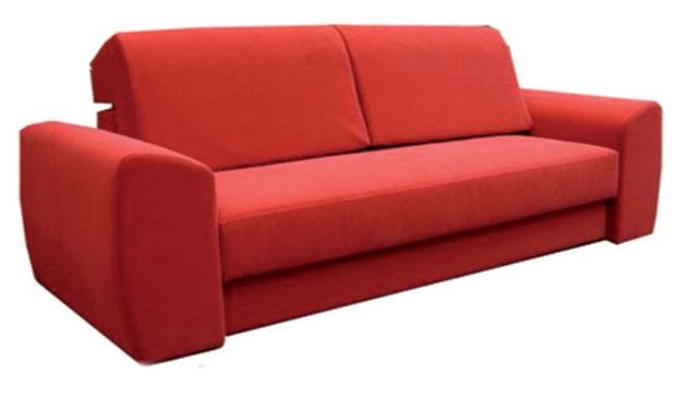 czerwona wygodna sofa
