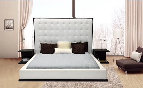 nowoczesne ekskluzywne łóżko szare
