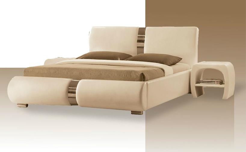 ekskluzywne łóżko beżowe