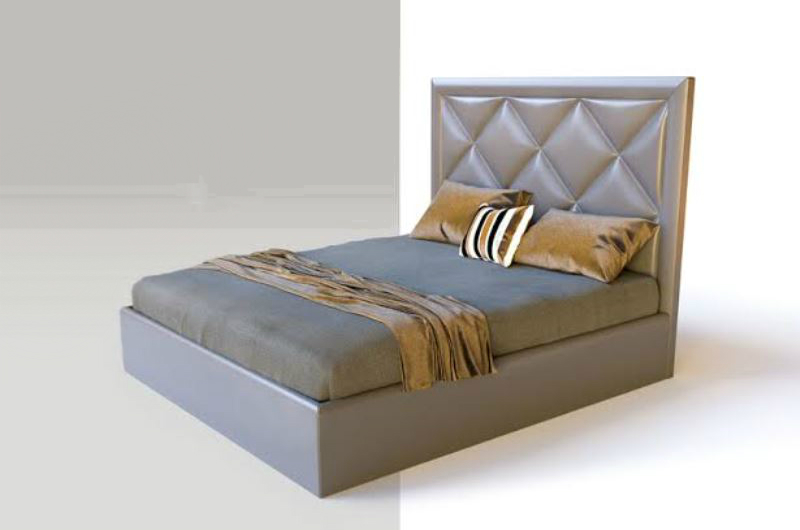 ekskluzywne łóżko szare