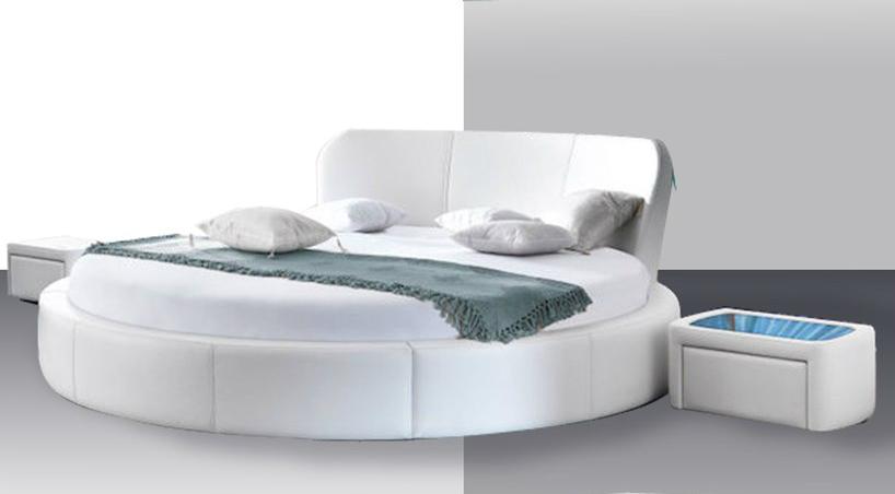 nowoczesne ekskluzywne łóżko okrągłe