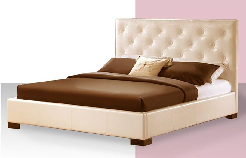 ekskluzywne łóżko cream