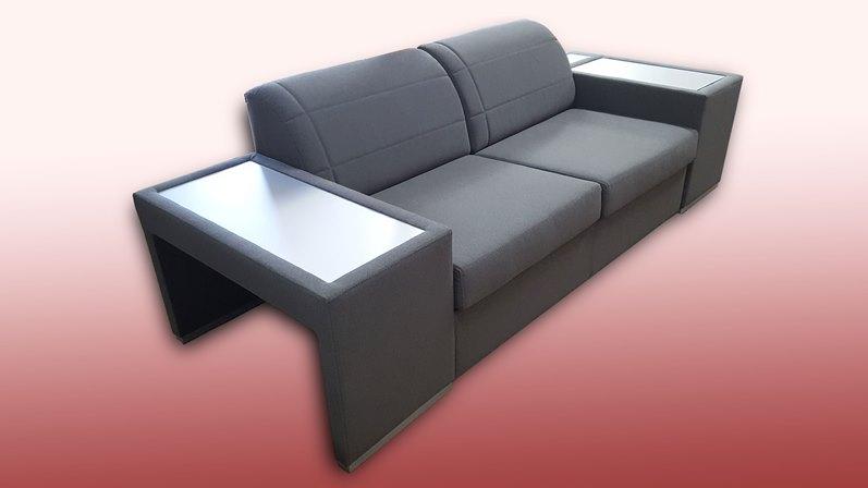 nowoczesna sofa z półką